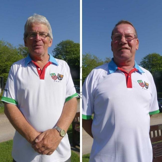 Windsor & Eton Bowls Club star Tony Scott, left, has made progress in both the National Senior Singles and county Singles but, Charlie Andrew, right, has been eliminated from the Unbadged Singles competition this season.