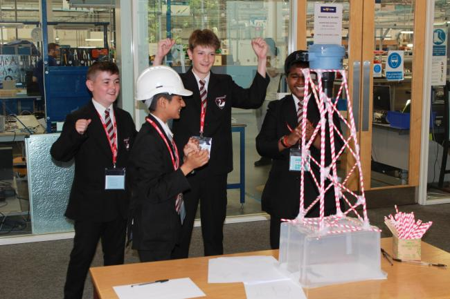Pupils tackle the STEM engineering design challenge at Emerson, in Slough