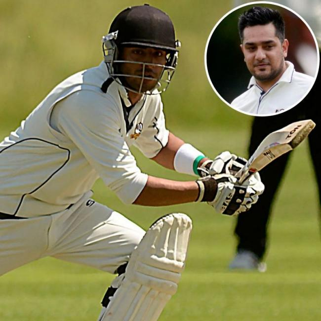 Burnham batsman Rizwan Nadeem and Fahad Raja (inset) managed 94 and 70 runs respectively in the 181-run win at Dinton in Division One of the Home Counties Premier League on Saturday.