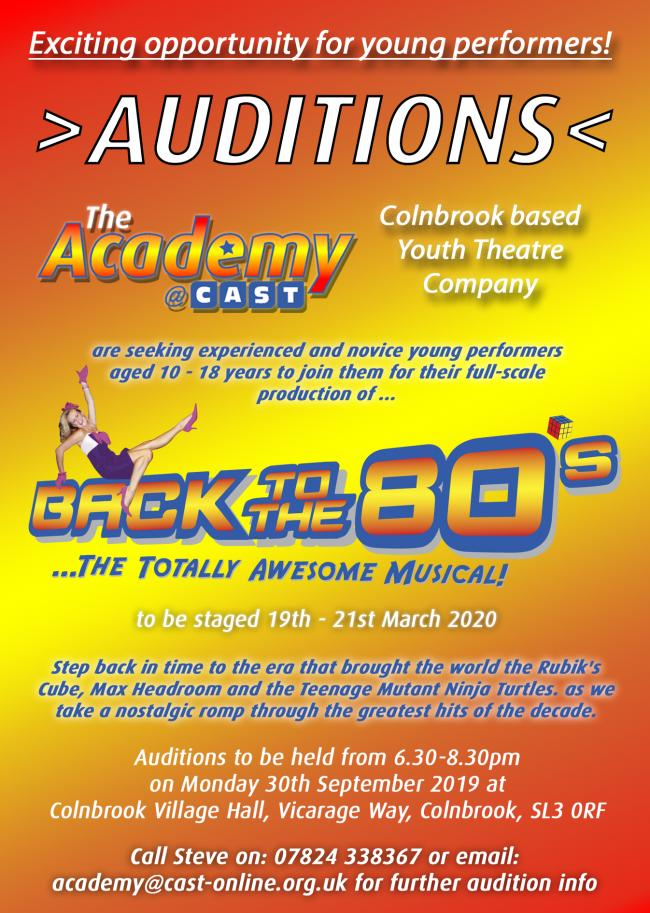 Colnbrook based drama group invites 10 to 18-year-olds to audition