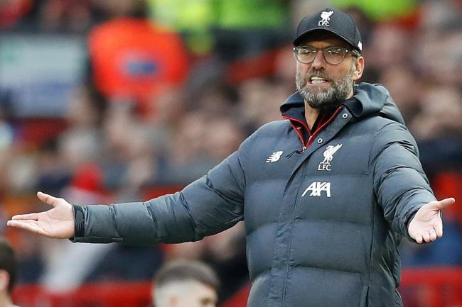 Jurgen Klopp shows his frustration against Manchester United