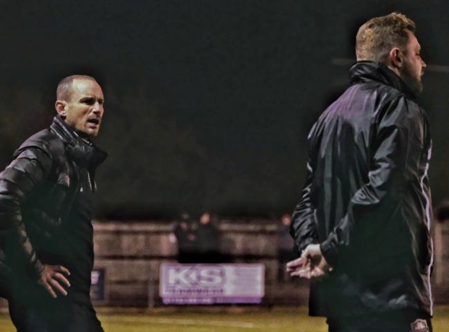 "Windsor manager Mick Cooper (left): ""It' just feels like we've been on the wrong end of a couple of very close games that have gone against us. It's difficult when results go like that for you."""