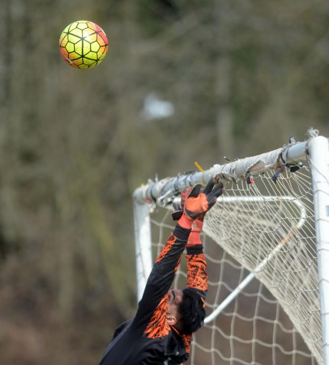Singh Sabha keeper Hassan Hussain made some fine saves in the 4-1 win at Old Windsor in round two of the High Wycombe Challenge Junior Cup on Saturday.