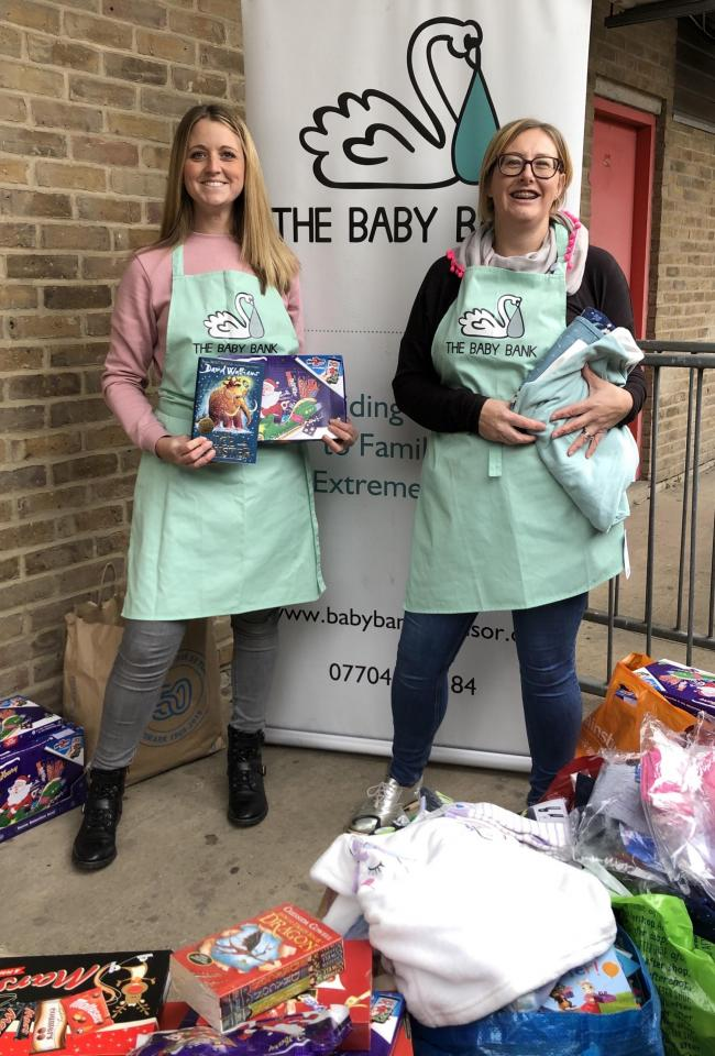 Rebecca Mistry, co-founder of The Baby Bank, right, with Lauren Hall, the charity's trustee and volunteer