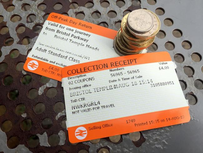 Rail ticket stock images. (PA)