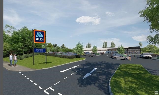 What the Aldi site will look like when completed