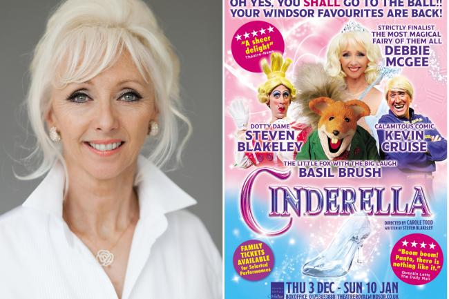 Debbie McGee as the fairy godmother - it must be magic