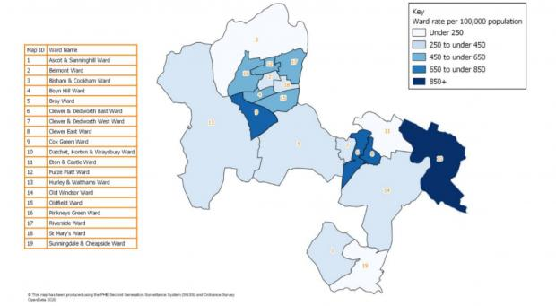 Royal Borough Observer: Covid-19 cases by Royal Borough ward as of January 20
