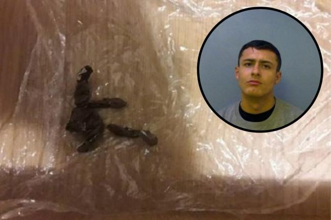 The drugs that were found. Kane Hollingworth (inset) has been jailed