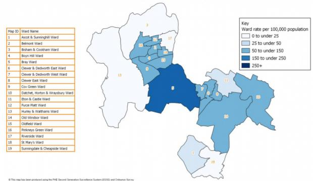 Royal Borough Observer: Most wards saw no change in their recorded figures