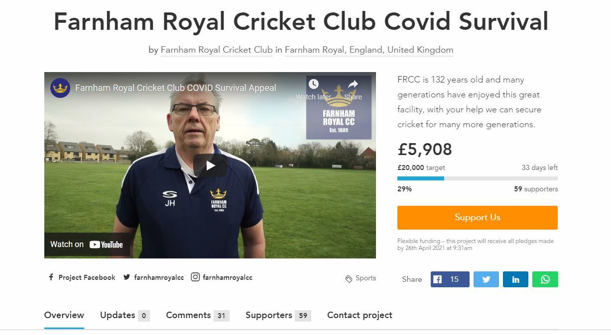 A screenshot from the Crowdfunder page