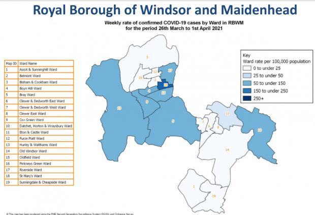 Royal Borough Observer: The Royal Borough areas with no recorded covid cases