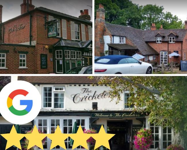 Best rated pubs in Berkshire according to Google Reviews