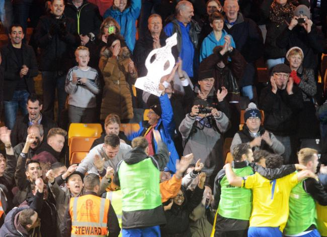 Like Chairman Peter Griffin, Maidenhead fans such as Timmy Mallett (centre with FA Cup) can look forward to Thursday's replay.