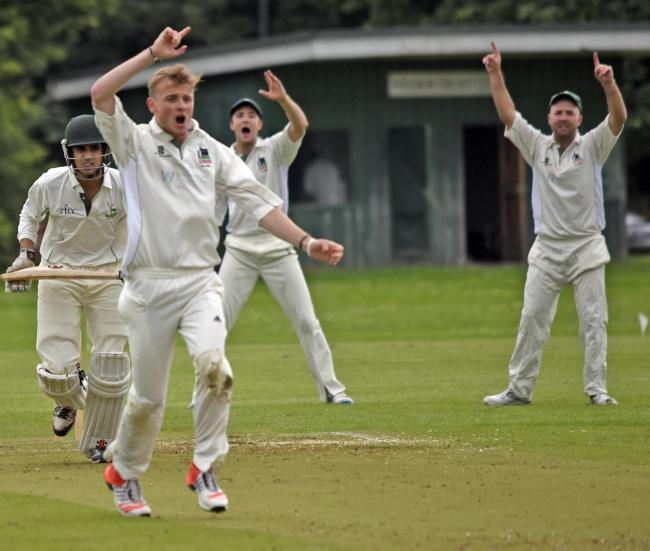 Windsor Cricket Club Bowler Harry Jordan Left Appeals For The Wicket Of Alex Masih