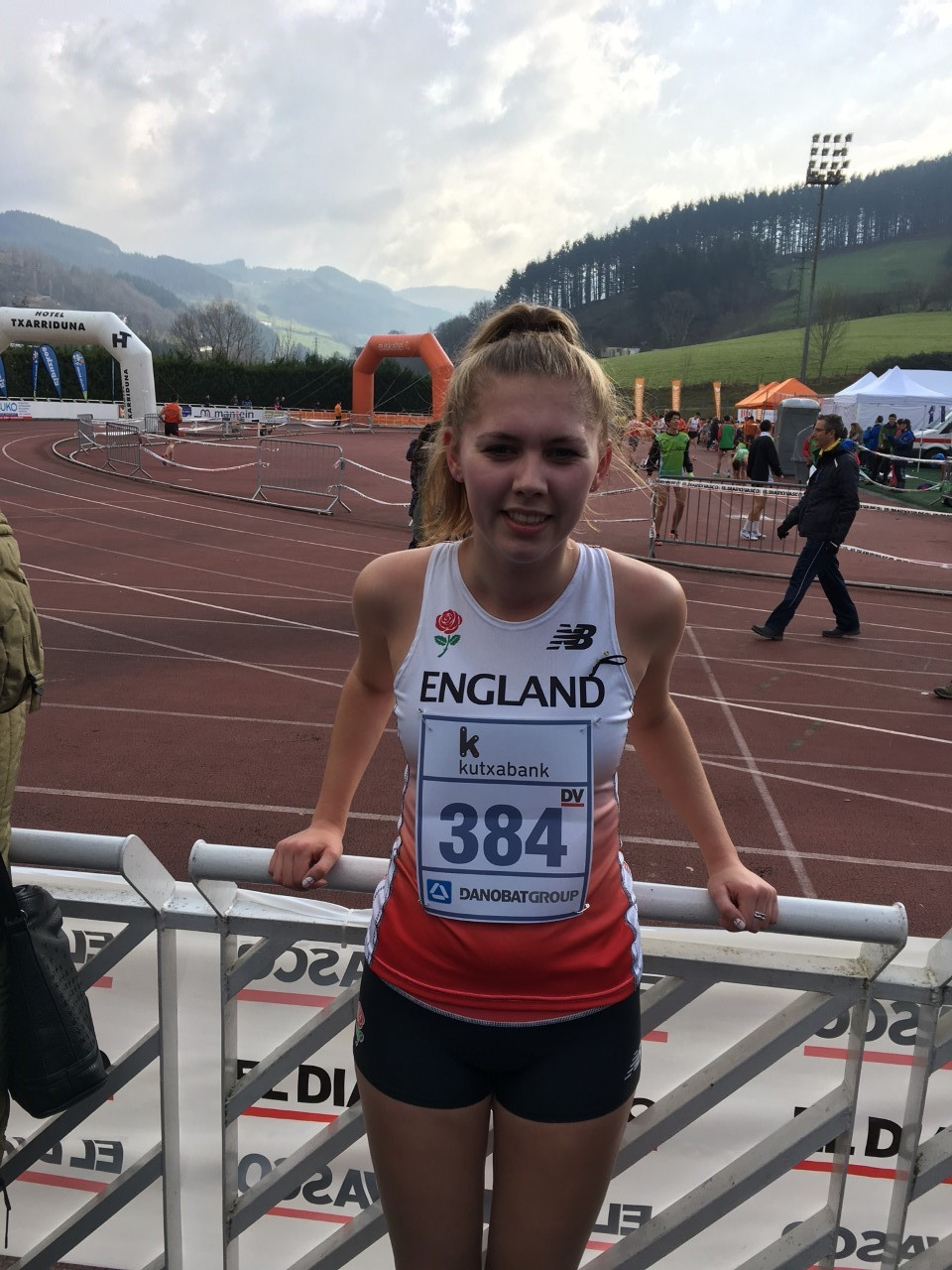 Sarah Chapman carried her first Great Britain vest to fourth place at the Juan Muguerza International Cross Country in Elgoibar, Spain.