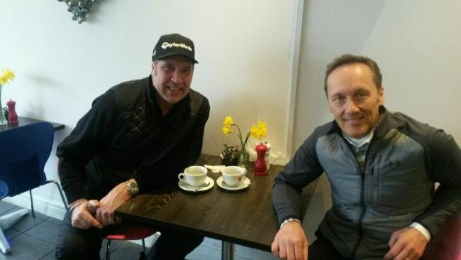 Breakfast time with David Seaman and Lee Dixon