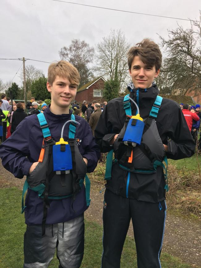 Sam Selby and Gus Fowle are kayaking 125 miles for charity
