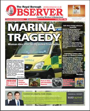 Royal Borough Observer: Windsor Observer- on sale now