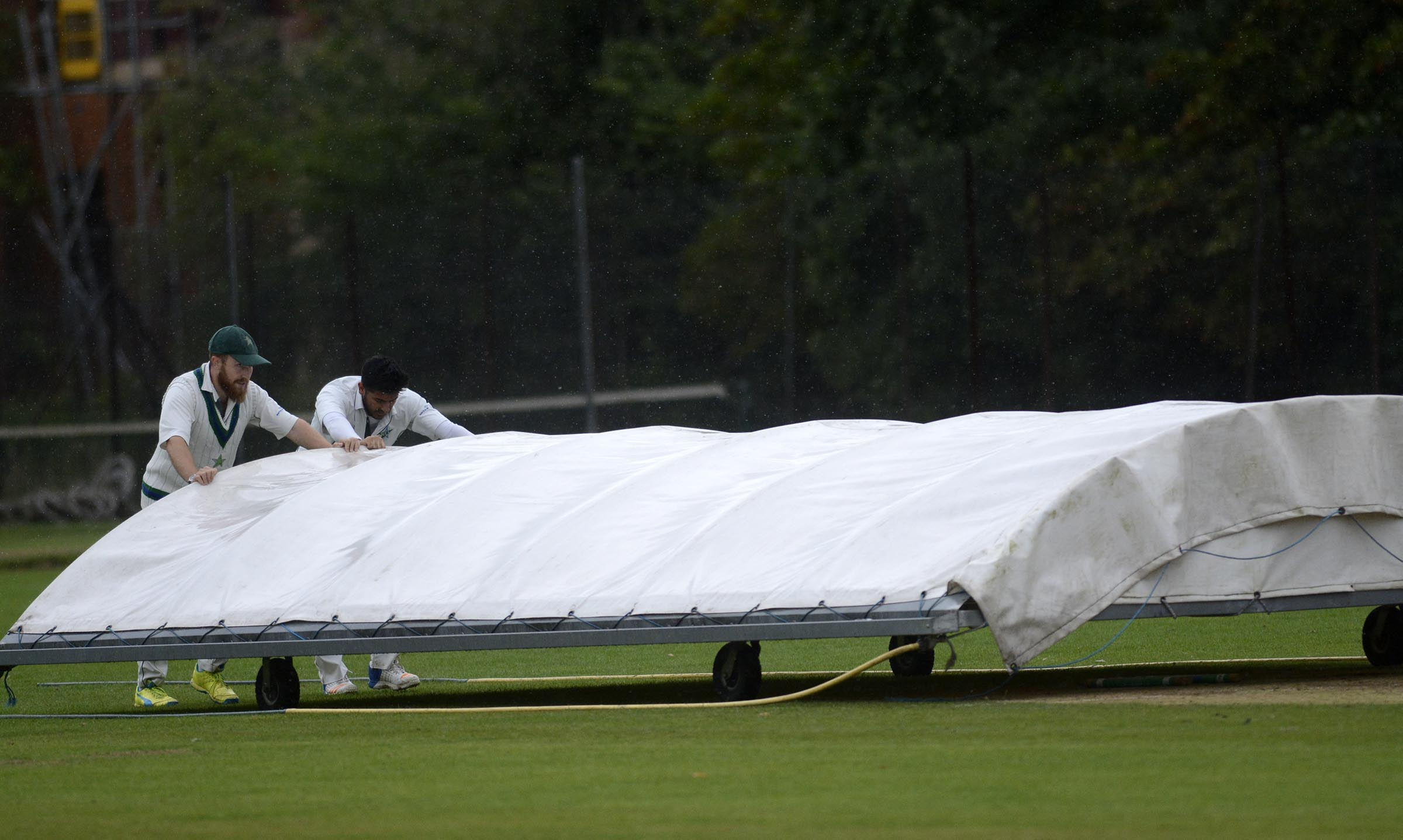West Reading players push the covers on