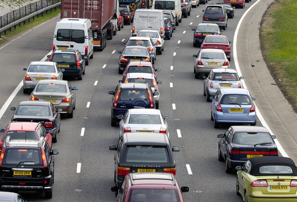 Congestion between junction 6 for Slough and Windsor and junction 5 for Langley after five vehicles are in collision on the M4