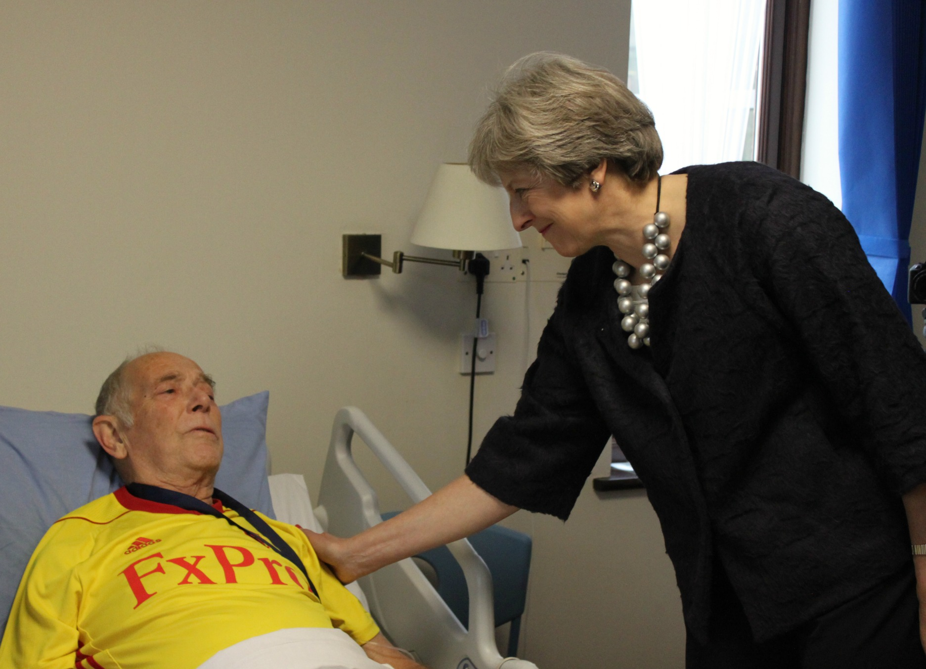 Prime Minister - and Maidenhead's MP - Theresa May during a visit to the hospice