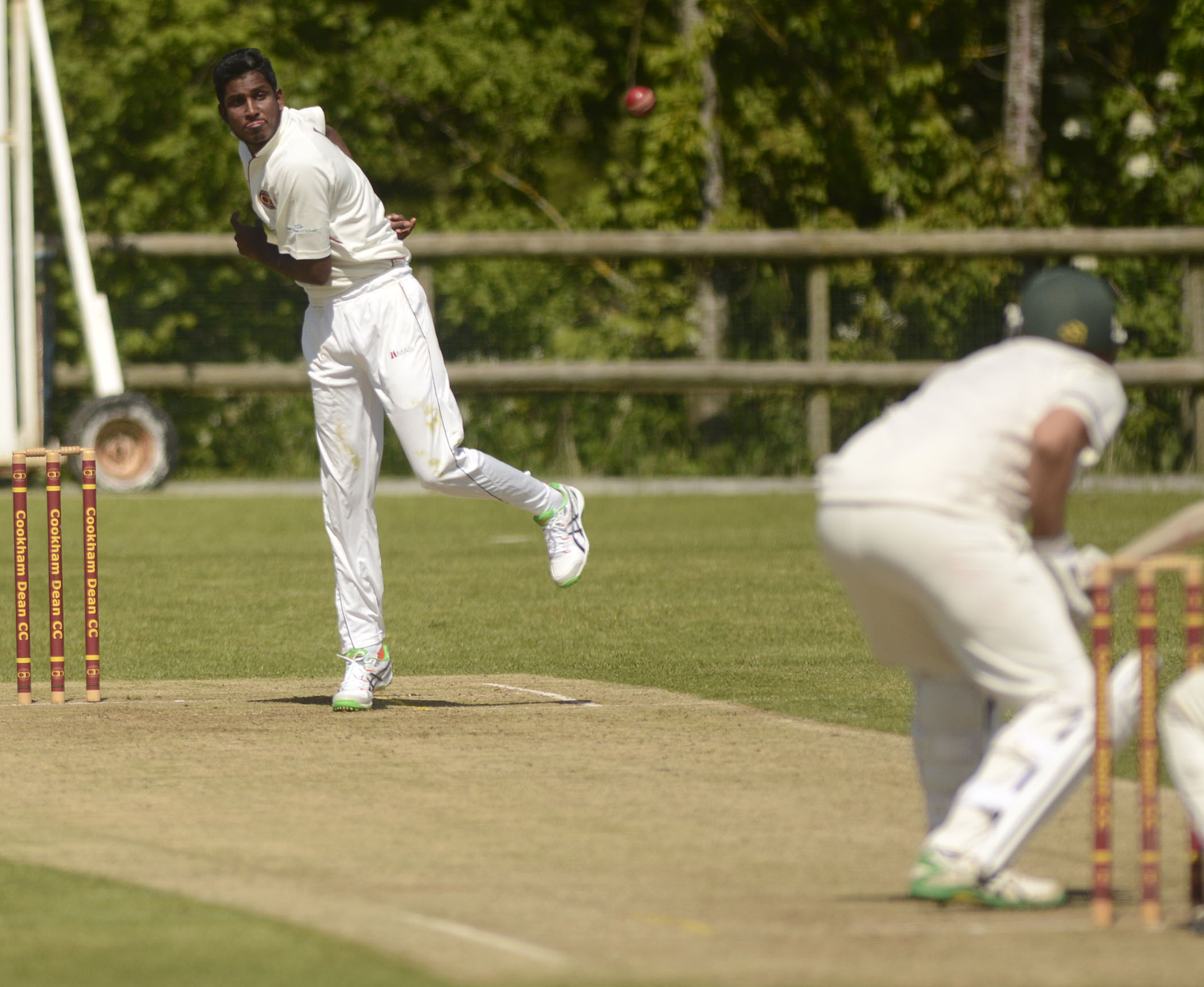 Overseas star Sahaan Nanayakkare starred for Cookham Dean with 5-68 in  their nine-wicket win against Cove in Division One on Saturday.