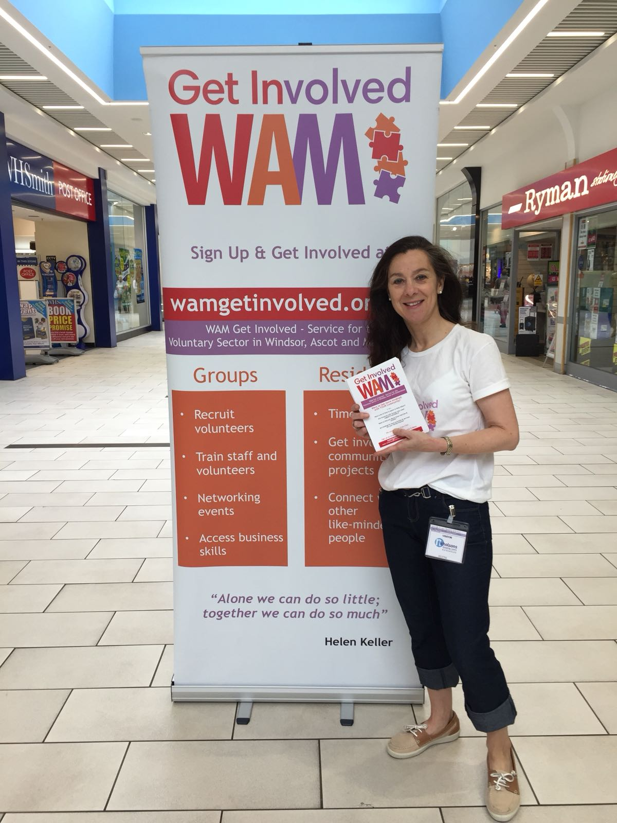 Eileen Denny from WAM Get Involved - out to match volunteers with their ideal good causes