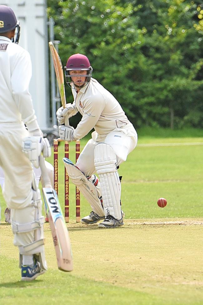 Chris Marrow top-scored with 60 runs as Cookham Dean beat Henley 2s by 144 runs in Division One of the Thames Valley League on Saturday.