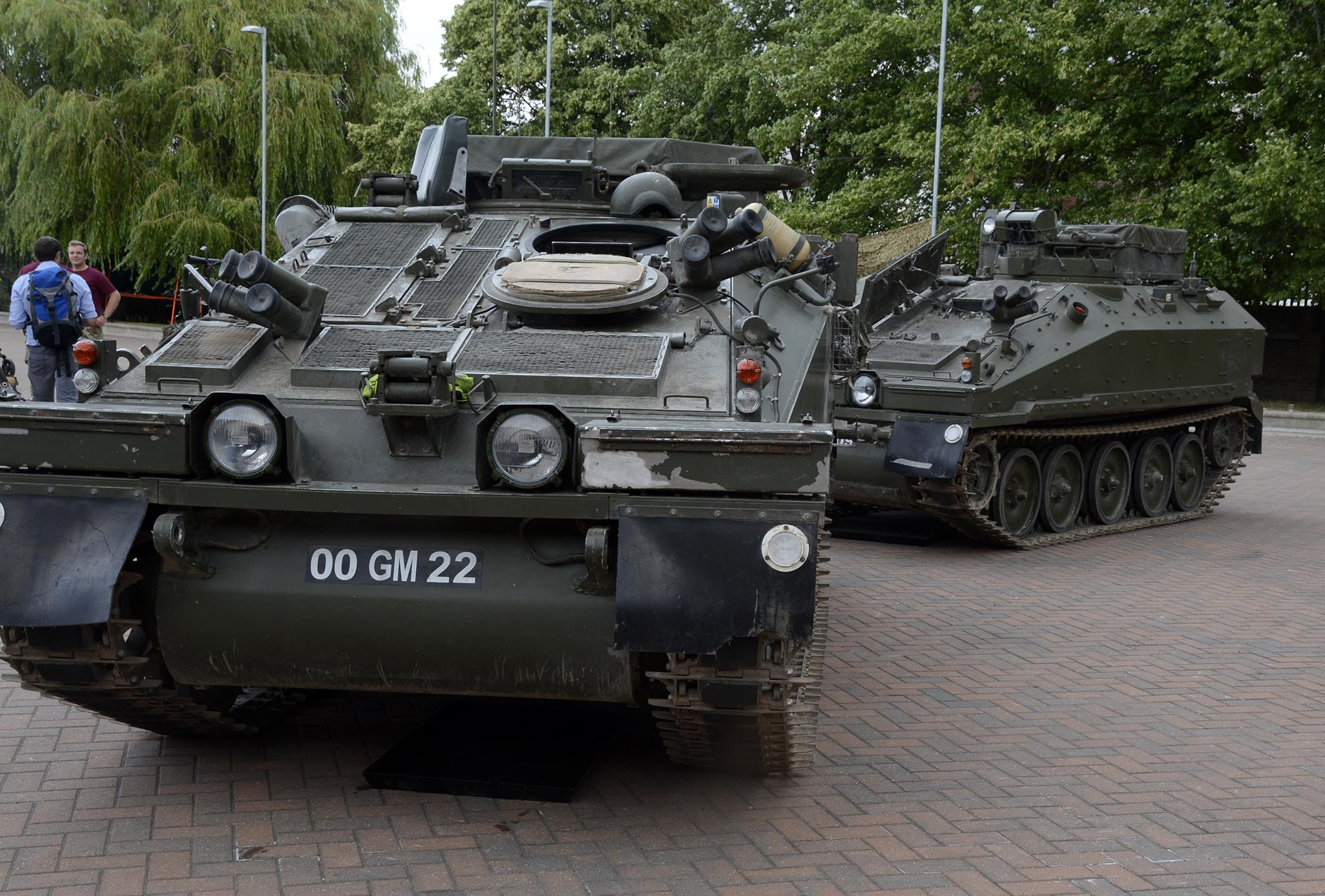 Tanks on display at a family open day at Combermere