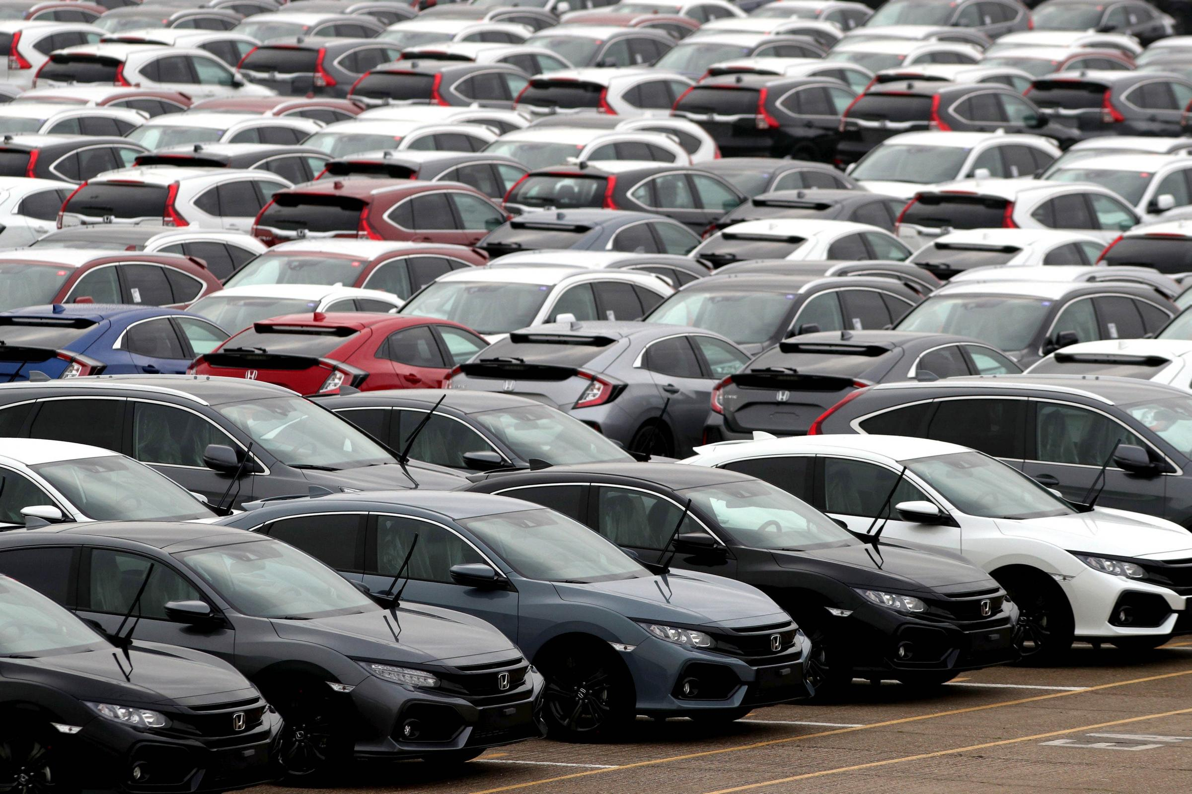 The UK's new car market fell by around 20% last month (Andrew Matthews/PA)