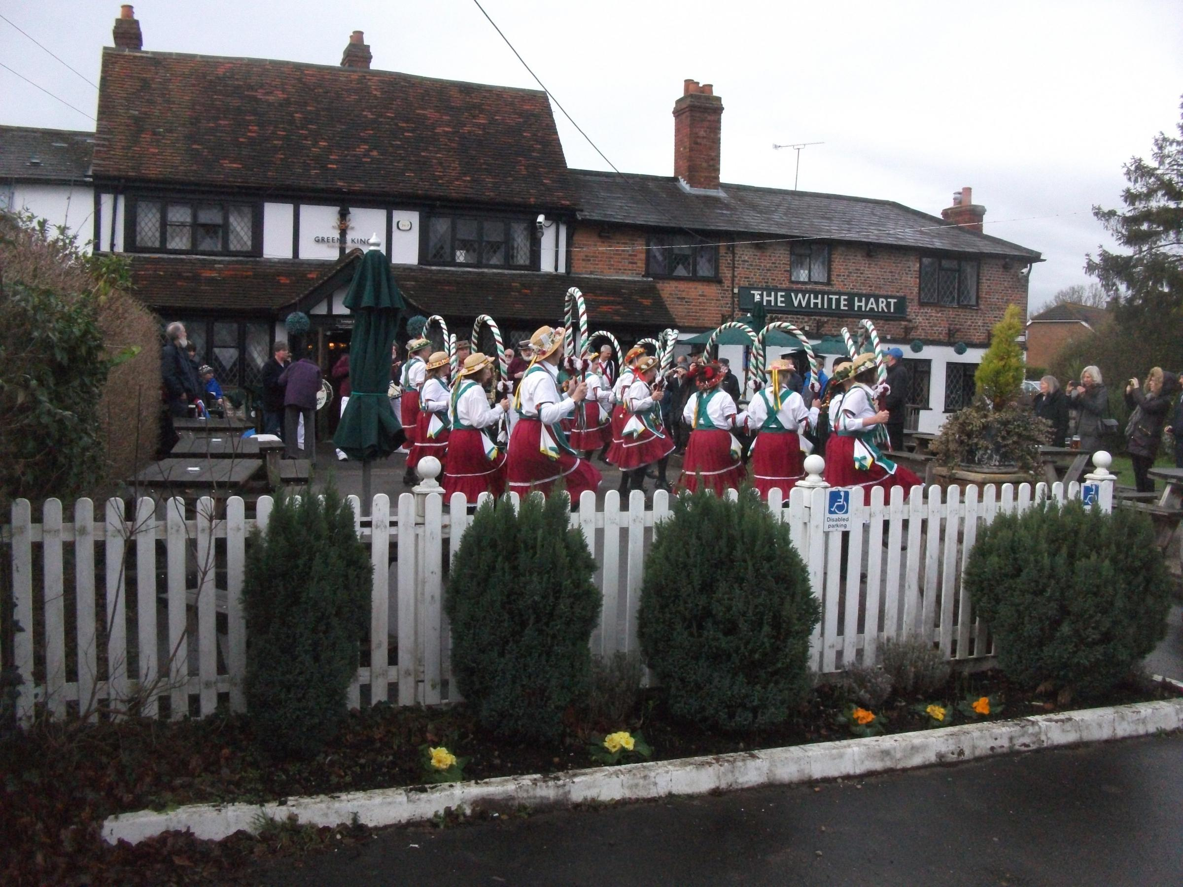 Morris dancing to welcome the new year