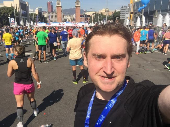 Maidenhead Athletics Club member Marc Dellasega ran a new personal best time of 03:38.12 in the Barcelona Marathon on Sunday.