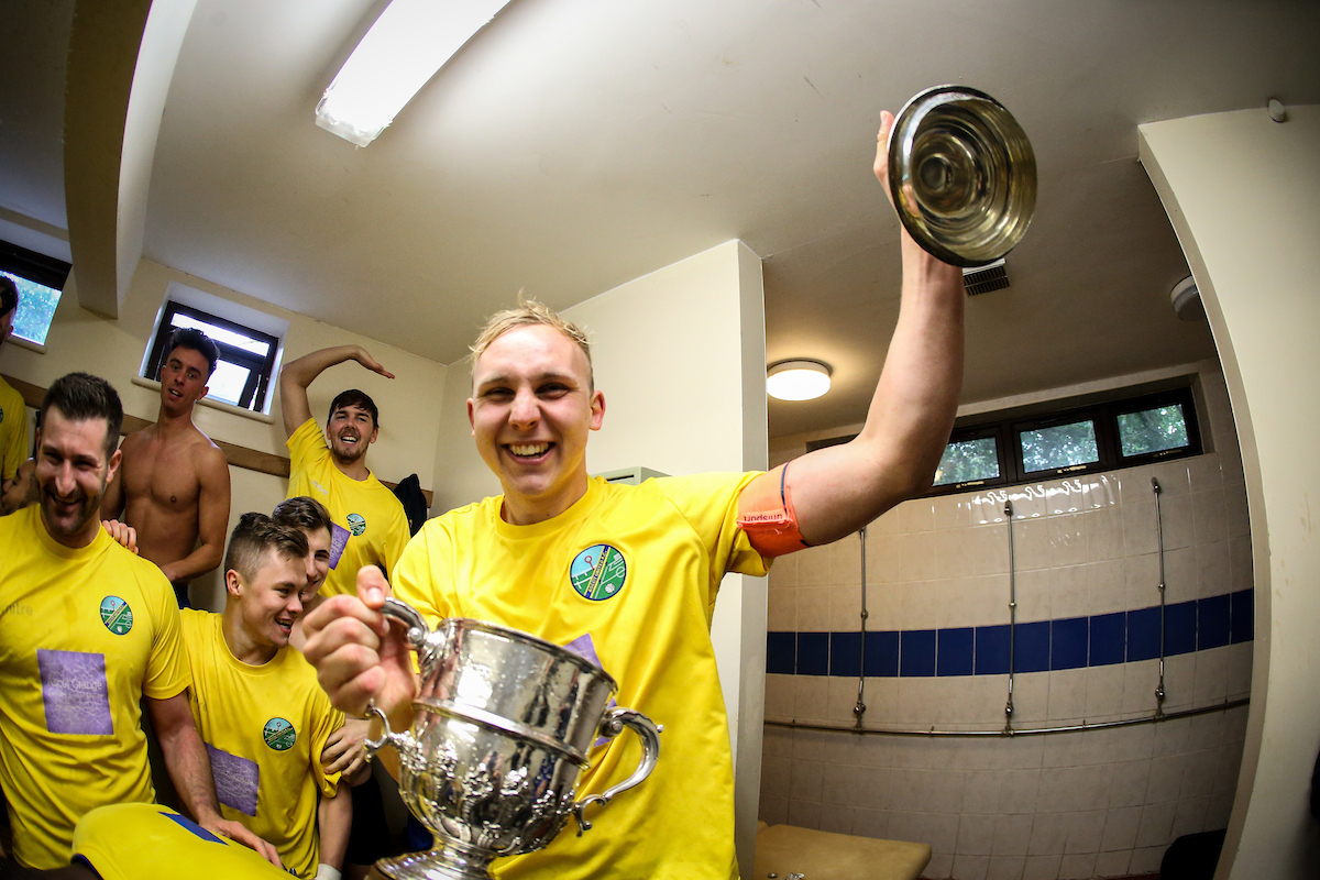 (190519) , Ascot Utd FC vs Windsor FC - Bluefin Sport Challenge Cup Final 2019, Ascot Celebrate victory, Pictures taken and copyrighted by Neil Graham.