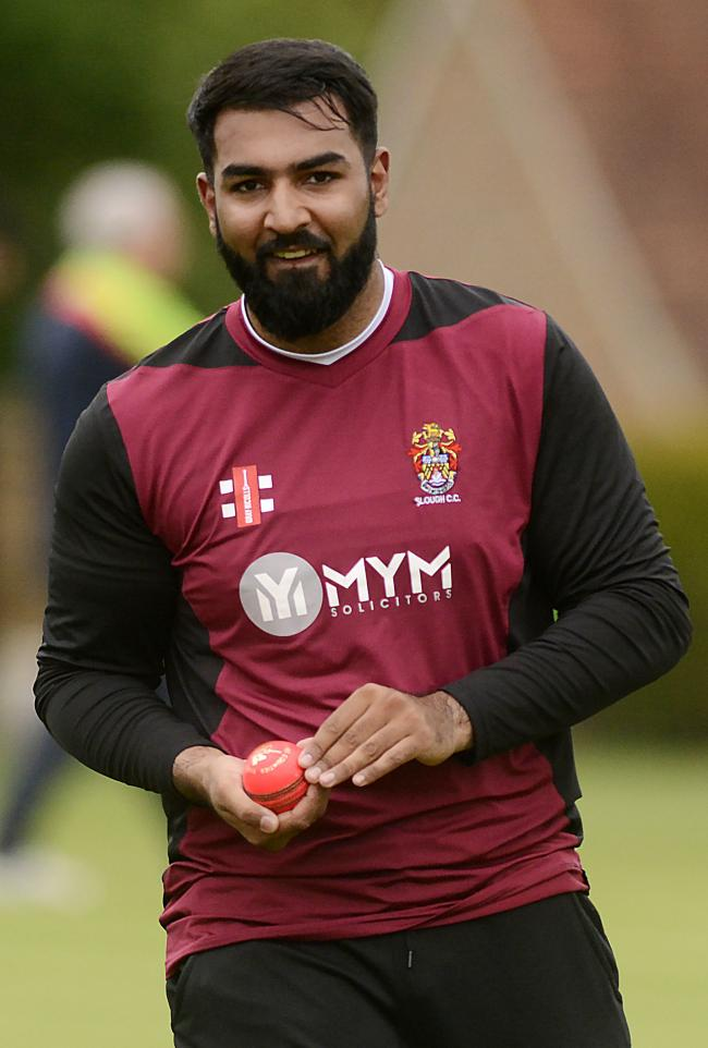 Daniyal Akhtar made 43 runs for Slough in the draw at Buckingham Town in Division One of the Home Counties Premier League on Saturday. PHOTO: Paul Johns.