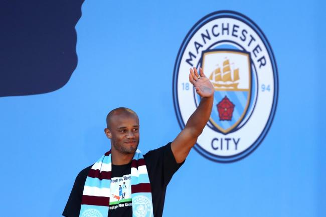 Vincent Kompany gave an emotional speech to team-mates before leaving Manchester City