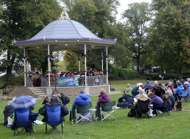 The bandstand in Alexandra Gardens