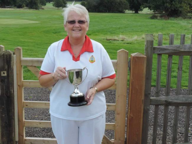 Pam Simms was a member of the Windsor Great Park Bowls Club team that lost at Maidenhead Thickets in the Senior Fours.